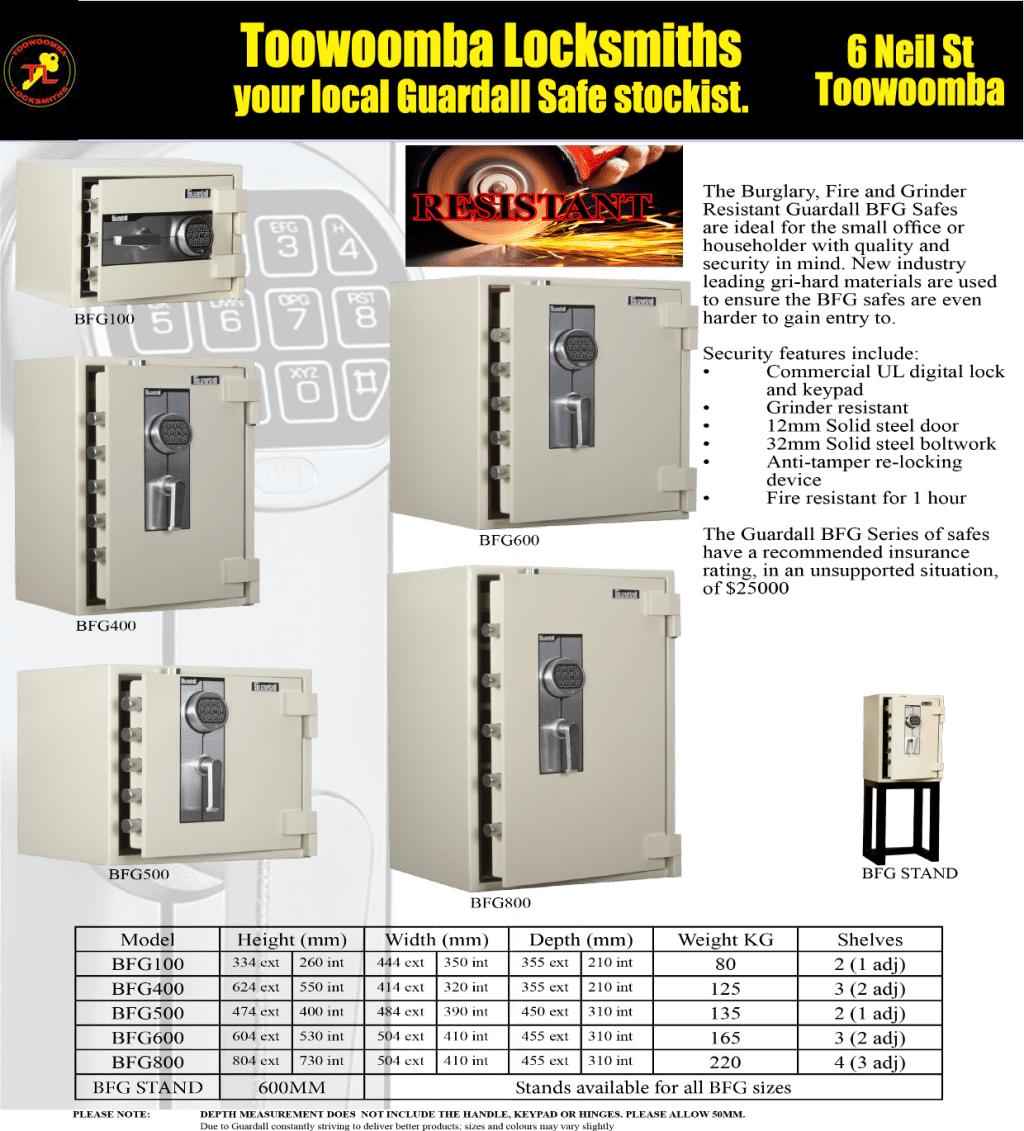 Toowoomba Locksmiths Guardall Safes