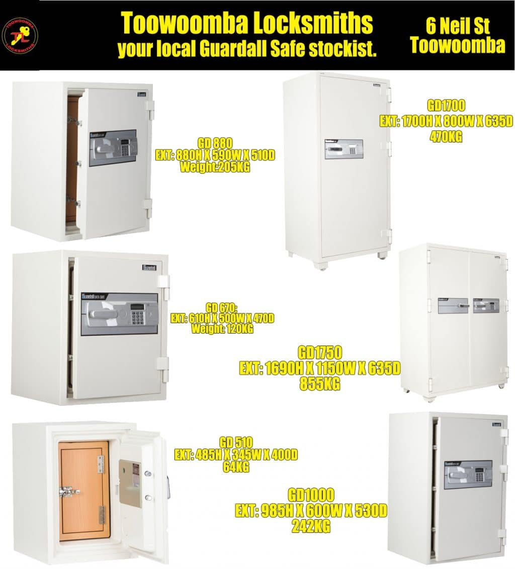 Toowoomba Locksmiths Guardall Safes2